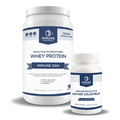 Immune GSH Whey Protein with Bovine Colostrum - Immune Combo