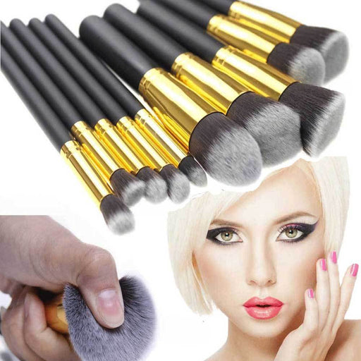 10 Piece Makeup Brush Set | Full Makeup Brush Set