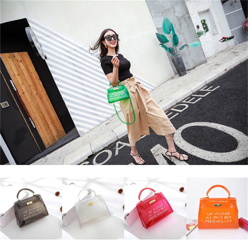 PVC Purse | See-Through Handbag | Clear Jelly Bag