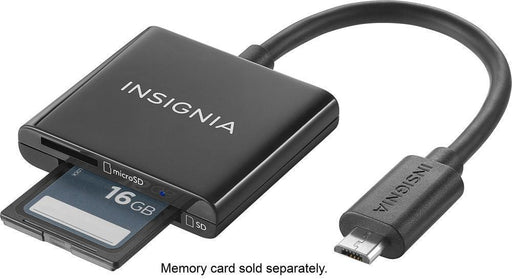 Insignia™ Micro USB Memory Card Reader - Black