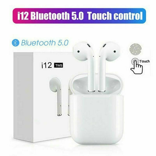 Bluetooth Earbuds Headphones 5.0 Apple AirPods Copy 2019 with Free case - i12 TWS