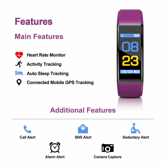 Waterproof Fitness Tracker With Heart Rate Monitor