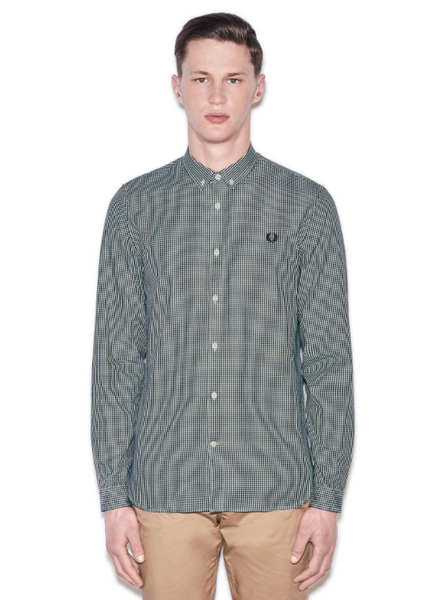 Basket Weave Shirt Ice Blue