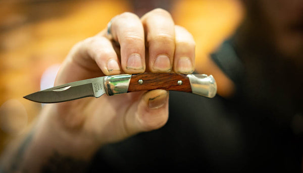 Clip Point Pocket Knife Wooden handle