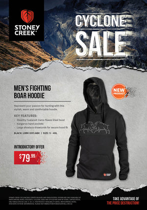 Stoney Creek Mens Boar Fight Hoodie