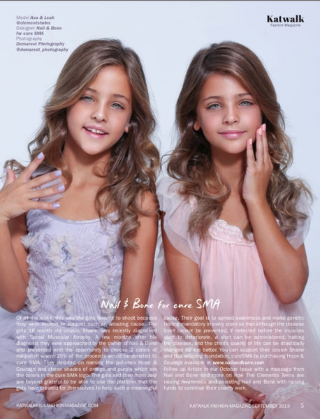 Hope | Courage | Nail Polish | 8 Free | Vegan | Clements Twins | Ava Marie | Leah Rose | CURE SMA | SMA | Katwalk