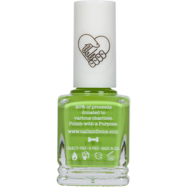 Everglow | Nail Polish | Neon Green |  8 Free | Vegan | Noah Cyrus | Jed Foundation
