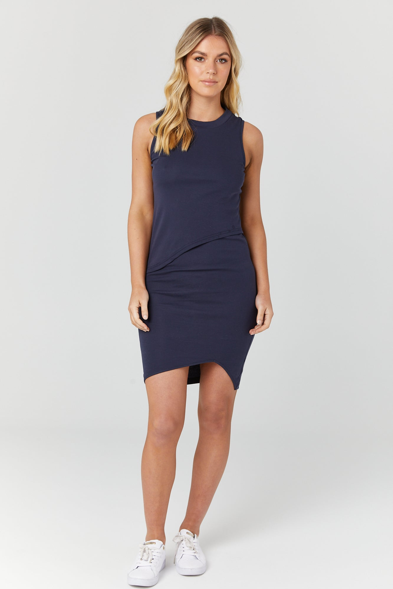 Bellevue Dress (Navy) - LEGOE.