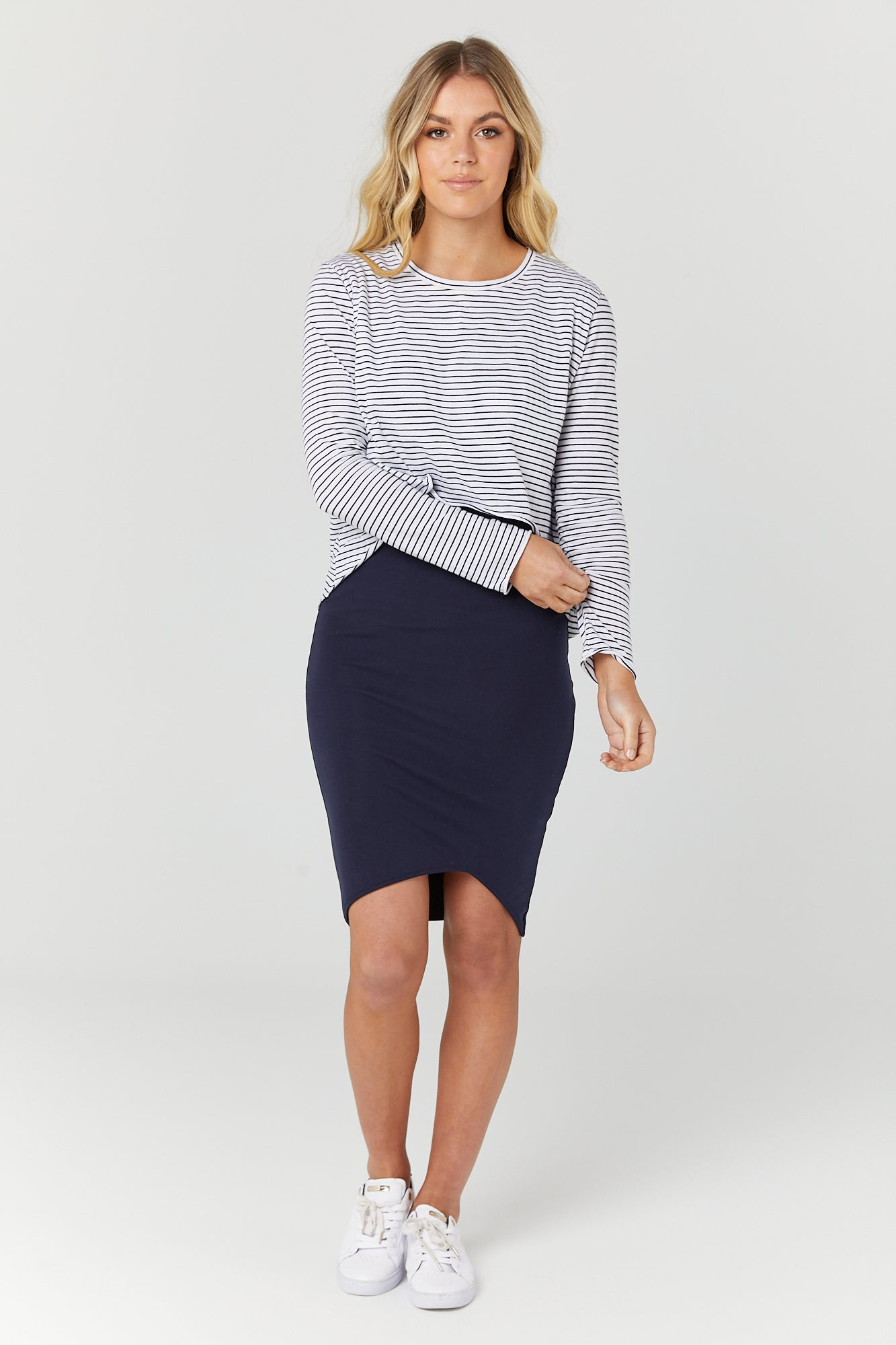 Bellevue Skirt (Navy) - LEGOE.