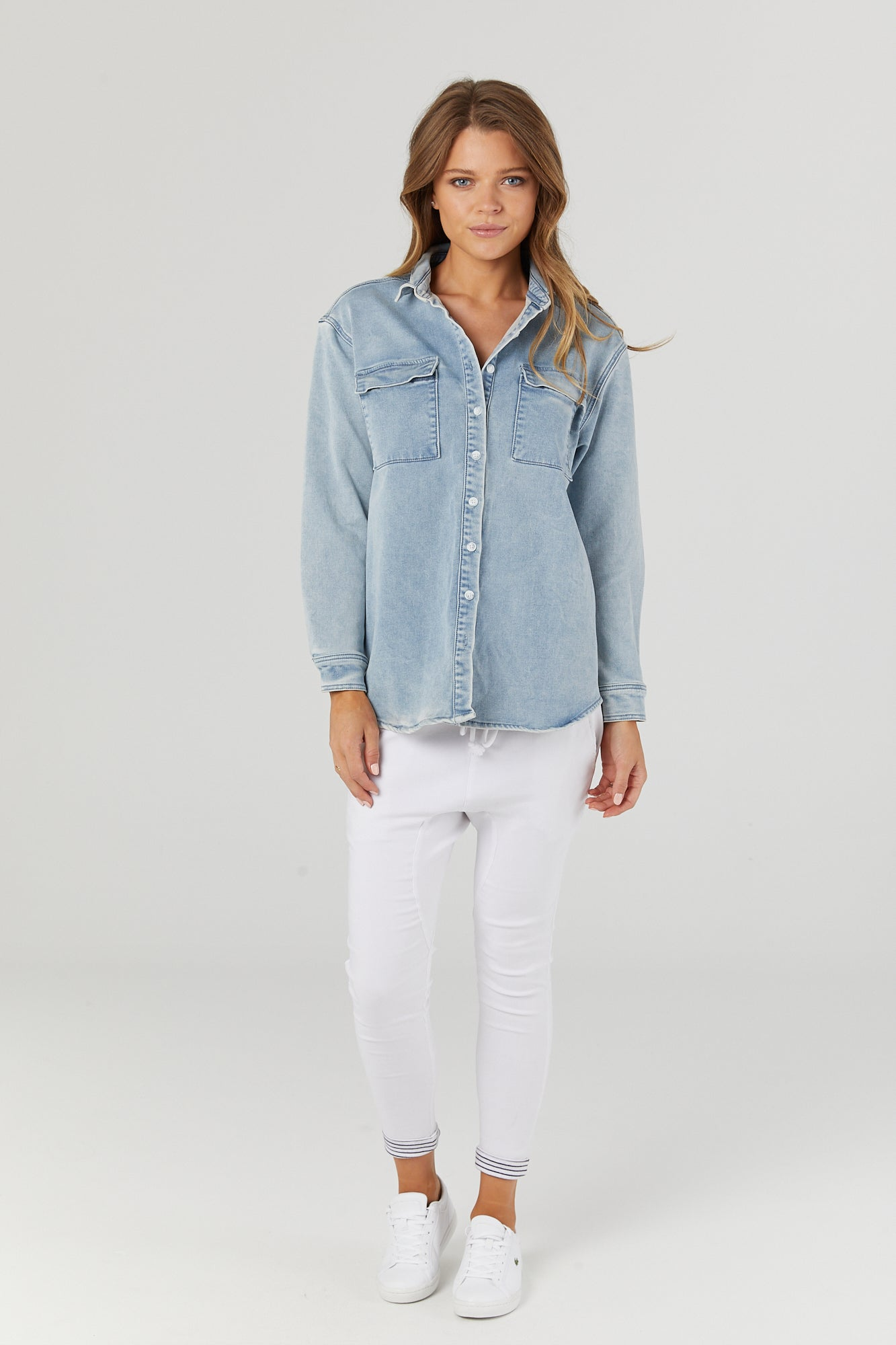 Boyfriend Denim Shirt/Jacket - LEGOE.