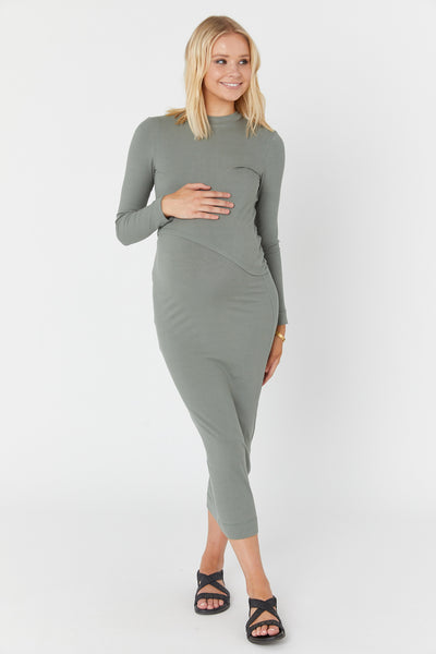 Elke Knit Dress (Mineral Green)