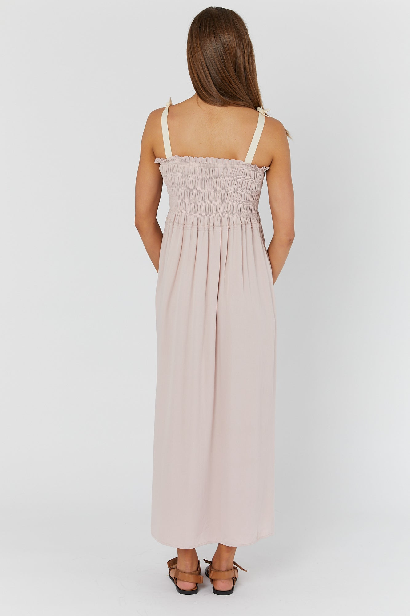 Hvar Shirred Maxidress (Blush)