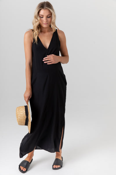 Indie Silk Dress (Black) - LEGOE.