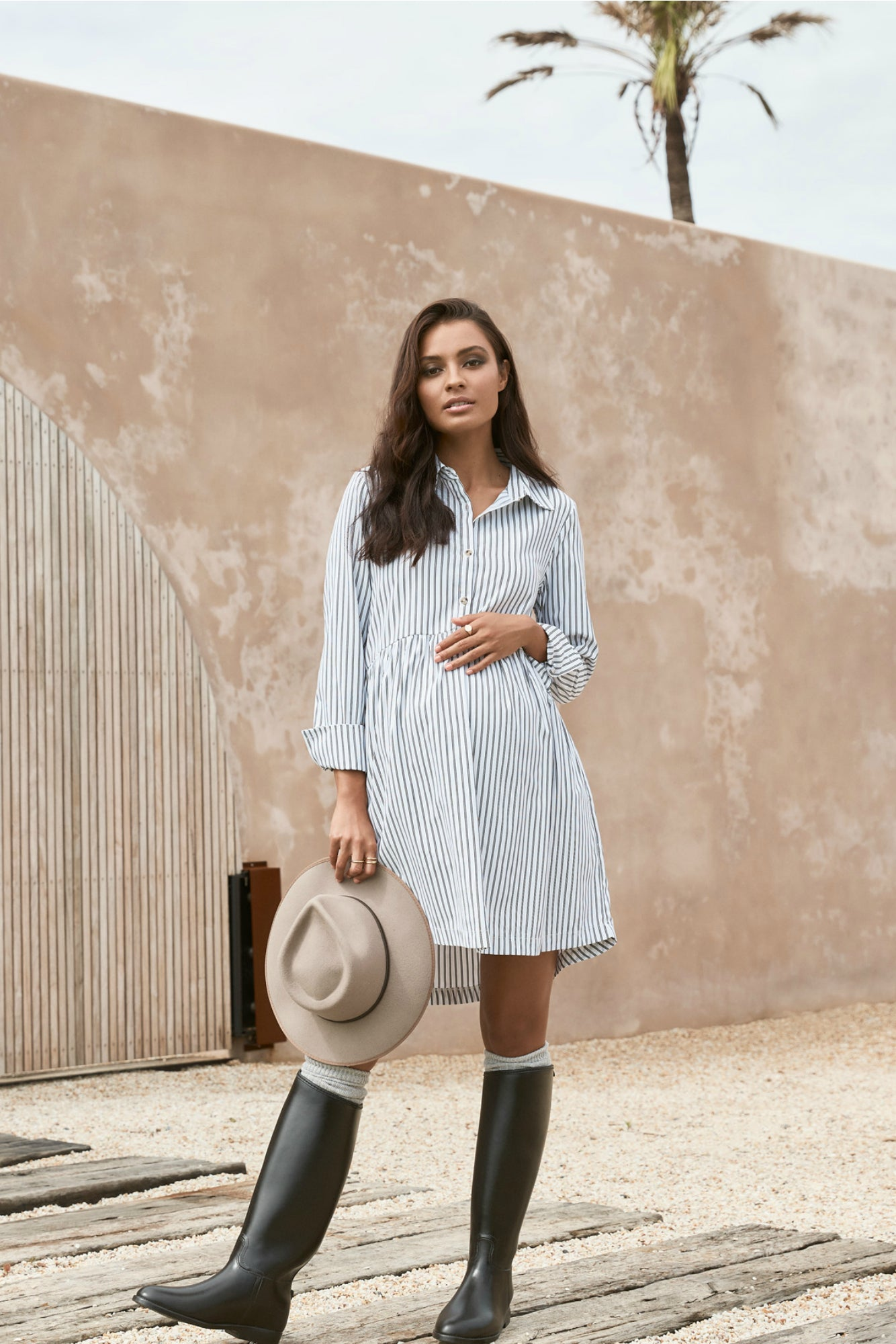 Sienna Shirtdress (Black Stripe) - LEGOE.