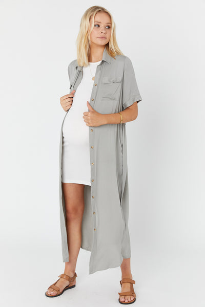 Lover Shirtdress (Washed Sage Green)