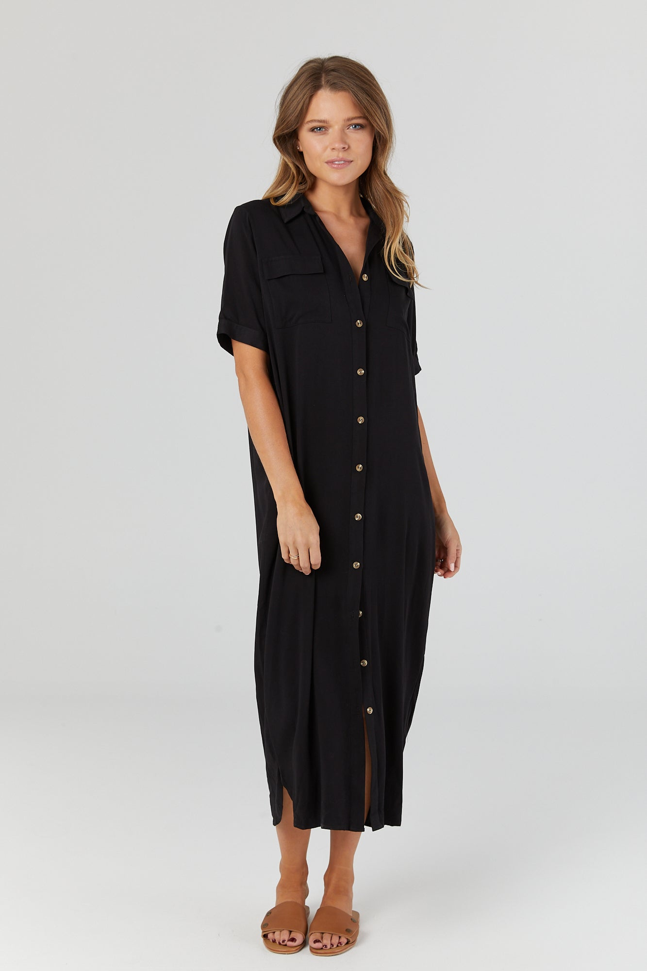 Lover Shirtdress (Black) - LEGOE.