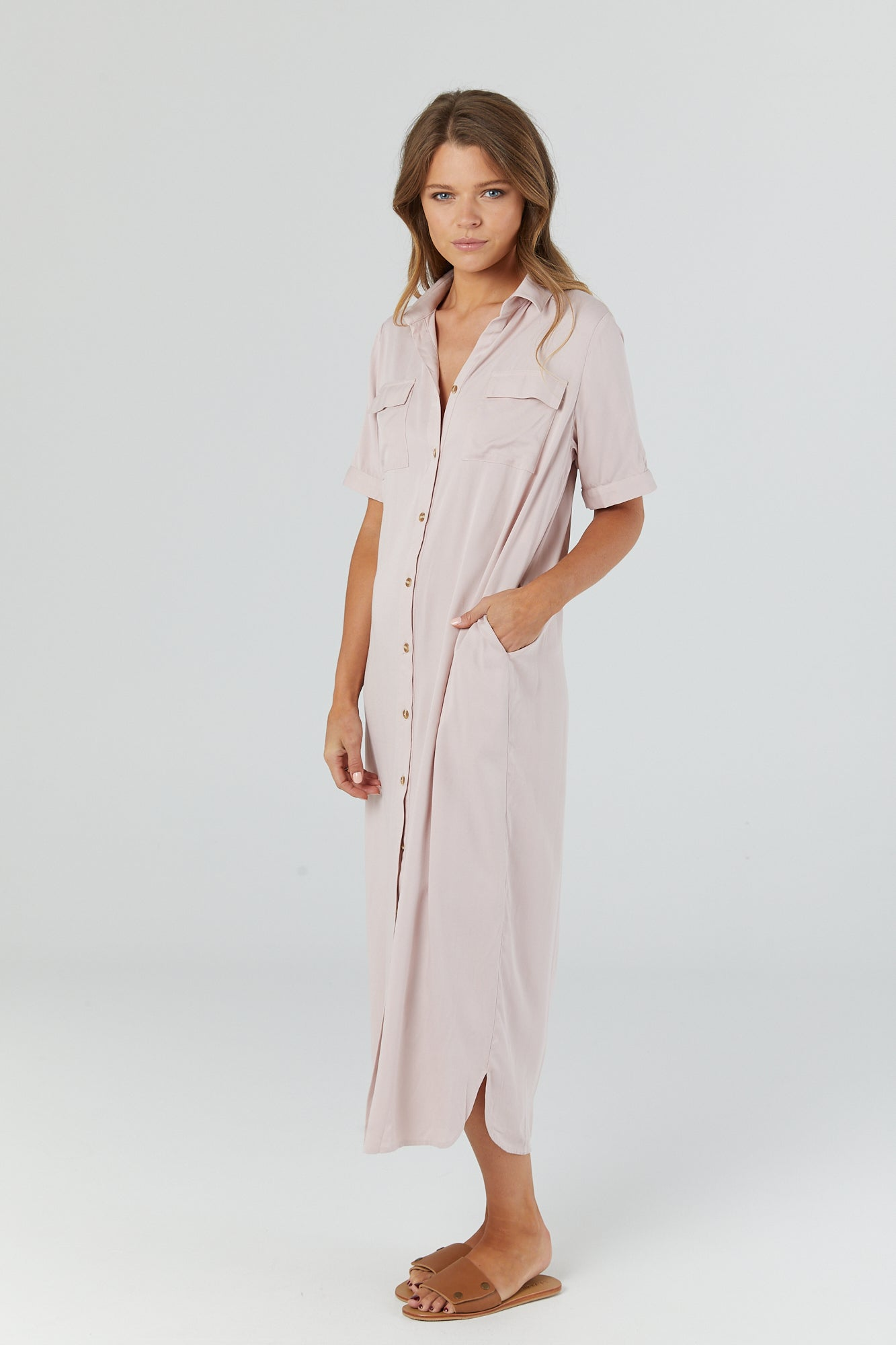 Lover Shirtdress (Blush) - LEGOE.