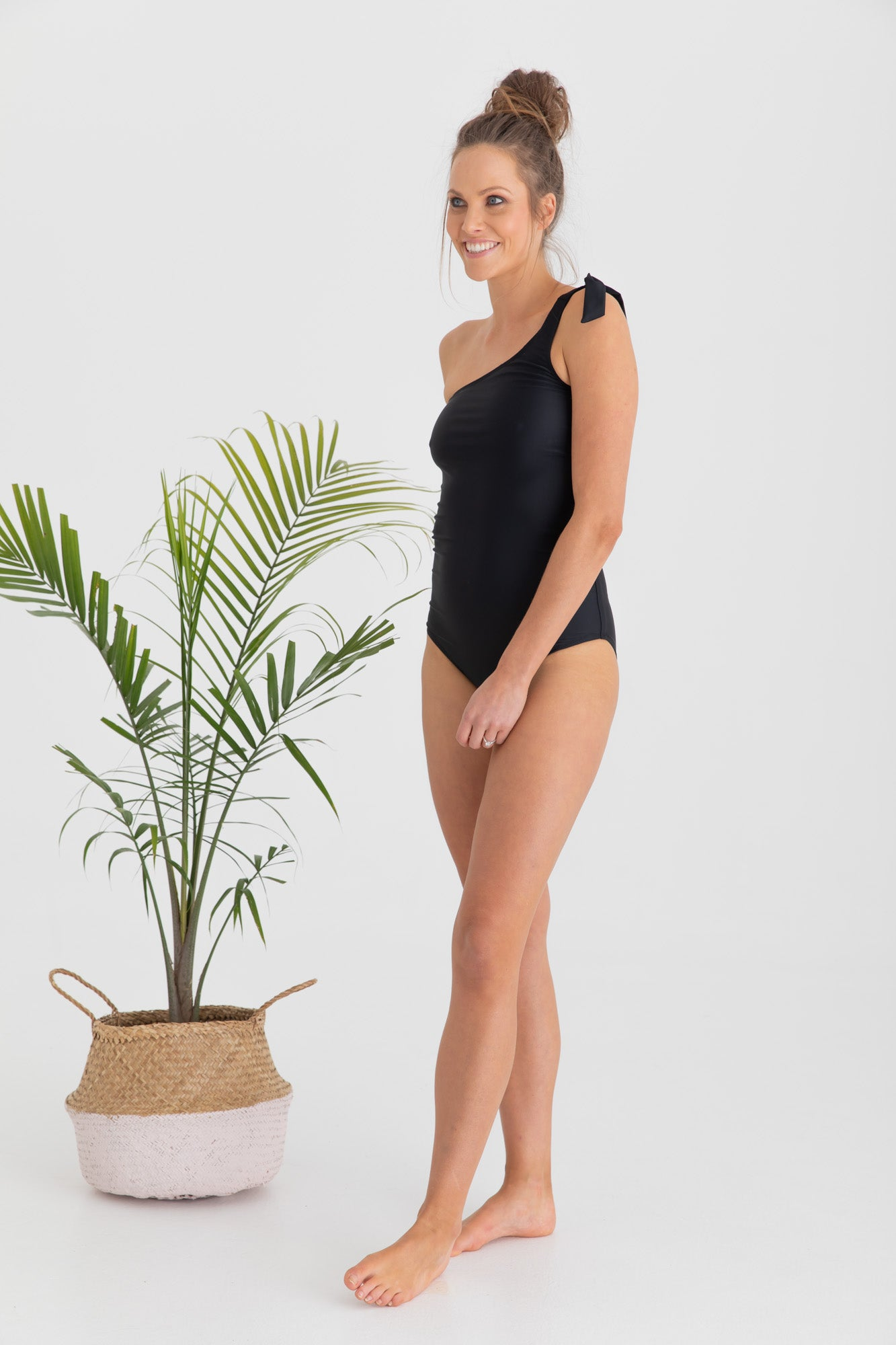 Maternity Swimsuit Black One Piece Palm Springs