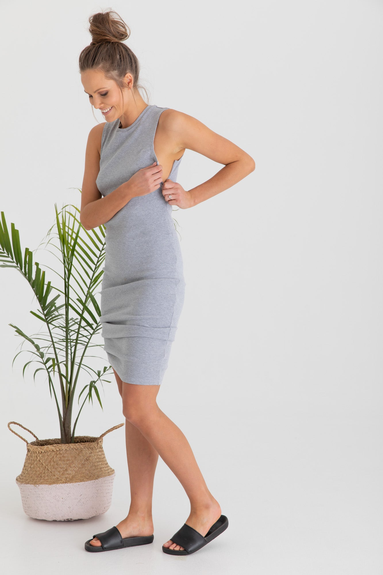 Maternity Dress Grey Marle Portugal