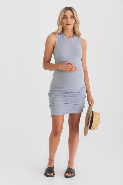 Portugal Dress (Grey Marle) - FINAL SALE - LEGOE.
