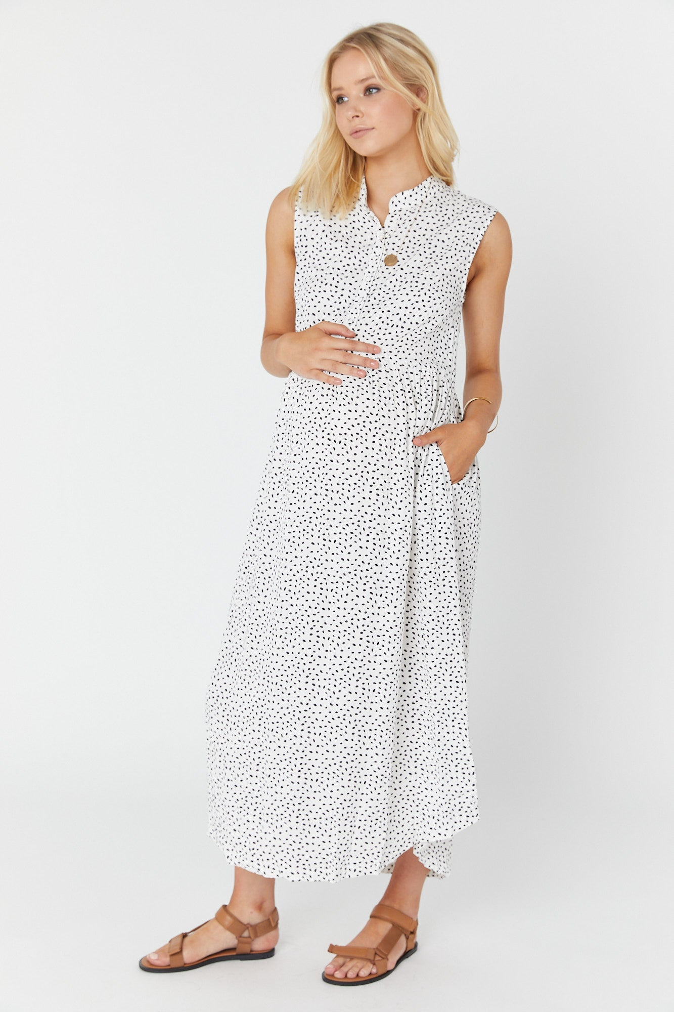 Romy (Rayon) Dress (Small Spots)
