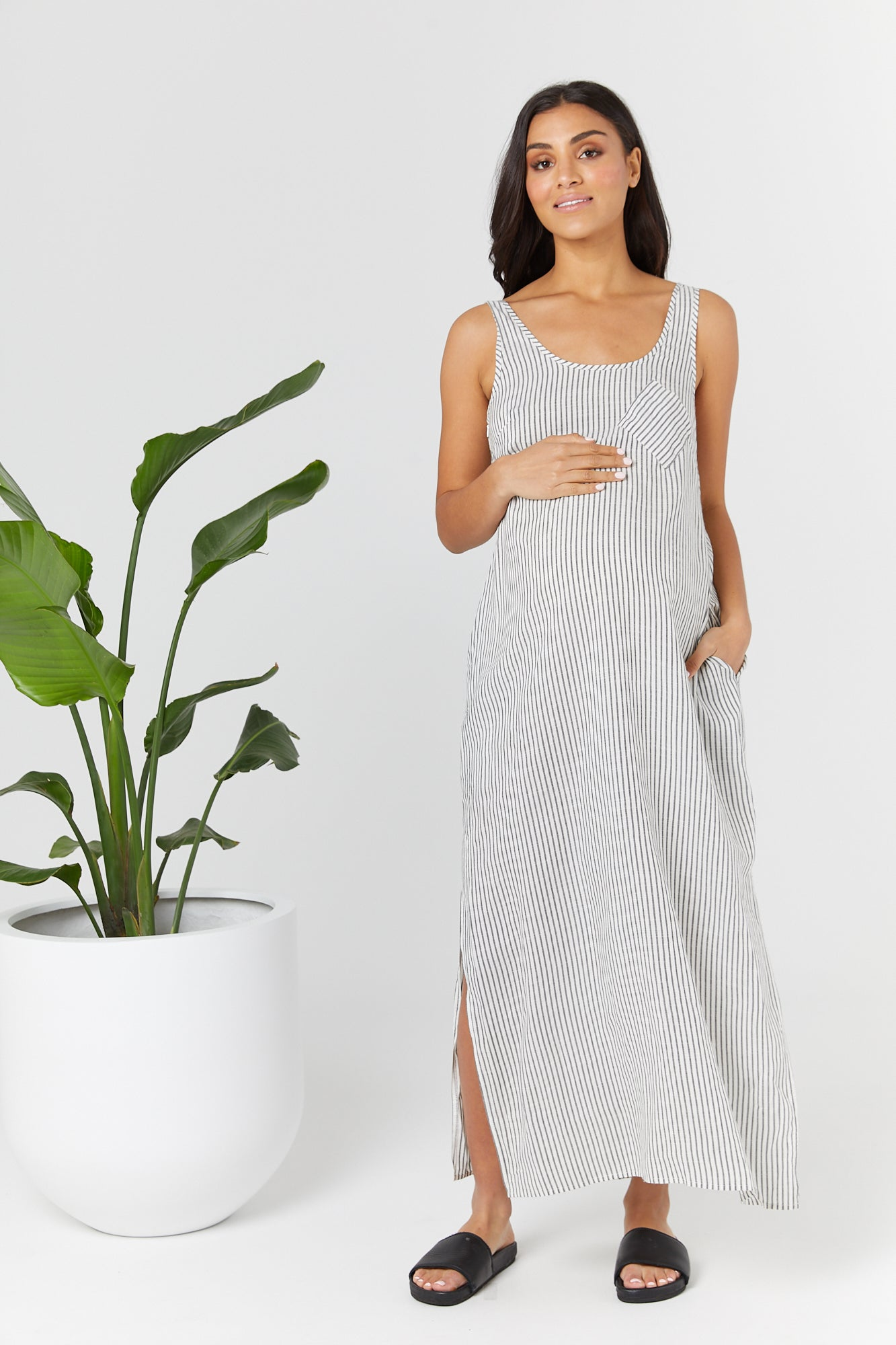 Ryder Dress (Charcoal Stripe) - LEGOE.