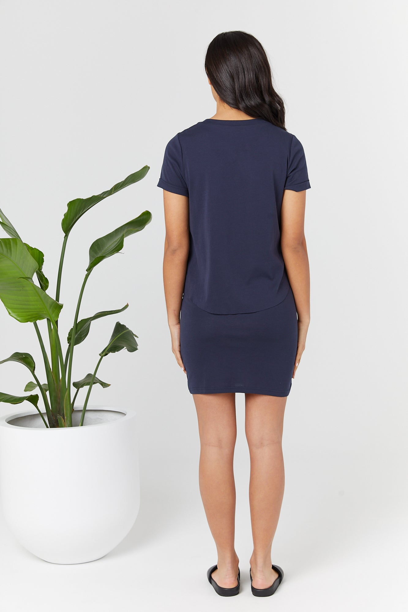 Vaucluse T Dress (Navy) - LEGOE.