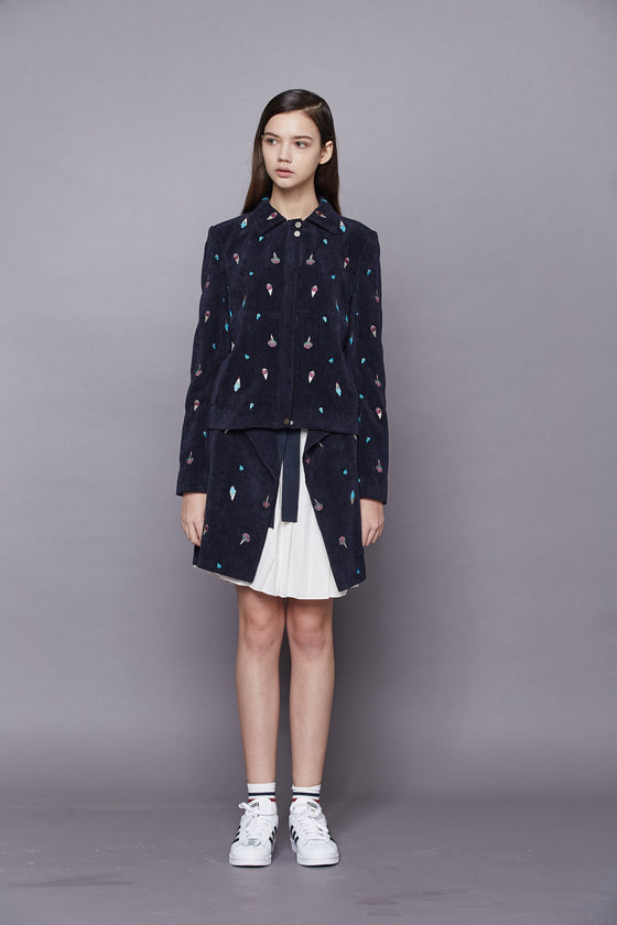 Alice Embroidered Cord Jacket