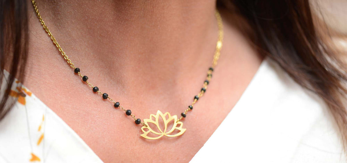 Lotus Gold plated necklace