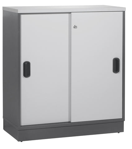 Sliding Door Cabinet With Base