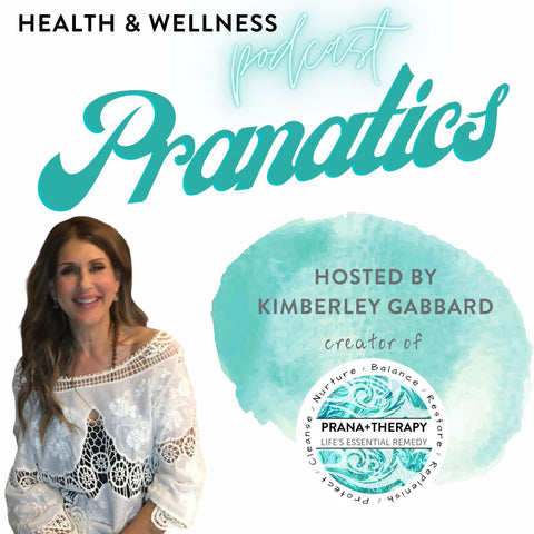 Kimberley Gabbard is smiling and the words Pranatics are on the image
