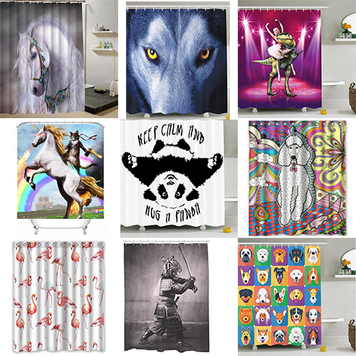 31 Animal Shower Curtain Ideas