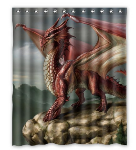 Dragons Art Shower Curtain