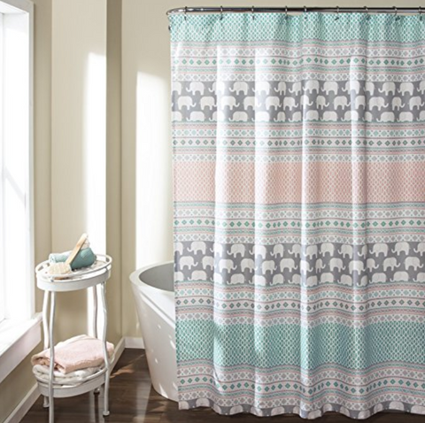 "Elephant Stripe Shower Curtain, 72"" x 72"""
