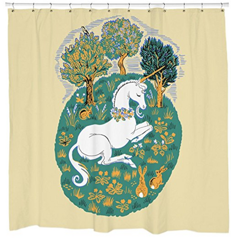 Lovely Unicorn Shower Curtain