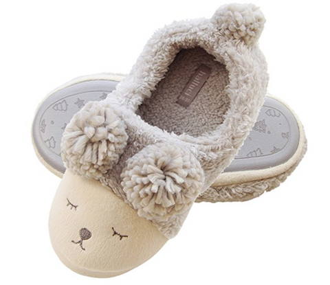 Women Wool Plush Sheep Slippers