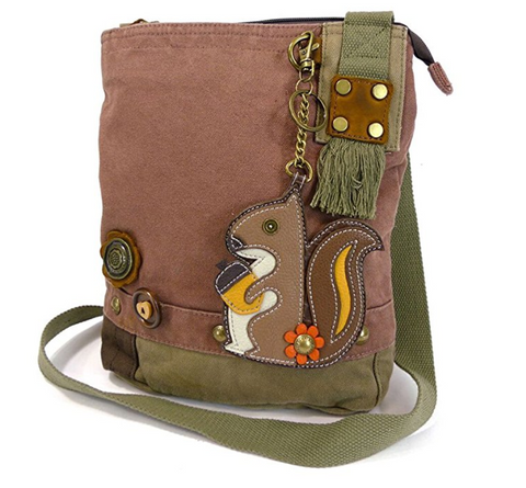 Canvas Messenger Bags with Squirrel Coin Purse