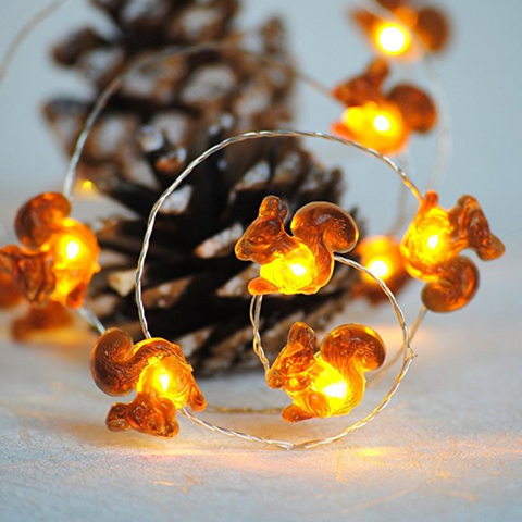 Squirrel Christmas Lights - 10 ft