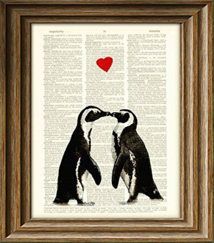 Dictionary Page Penguin Art