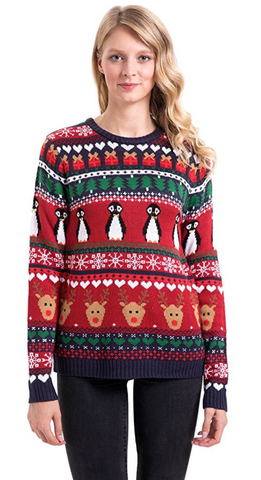 Women's Penguin Ugly Christmas Sweaters