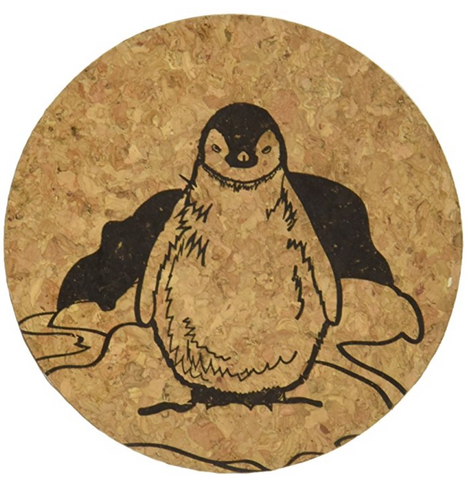 Penguin Cork Coaster Set