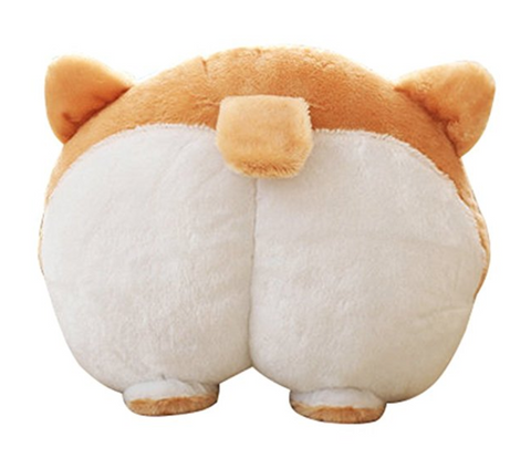 Cute Corgi Butt Throw Pillow
