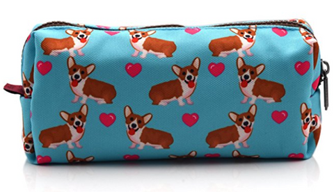 Corgi Dogs Students Canvas Pencil Case
