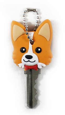 Corgi Soft Rubber Key Holder