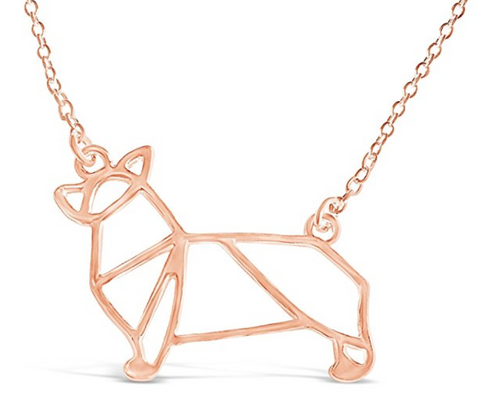 Corgi Dog Origami Necklace