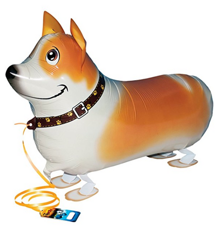 Corgi Party Balloons