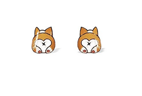 Corgi Stud Earrings