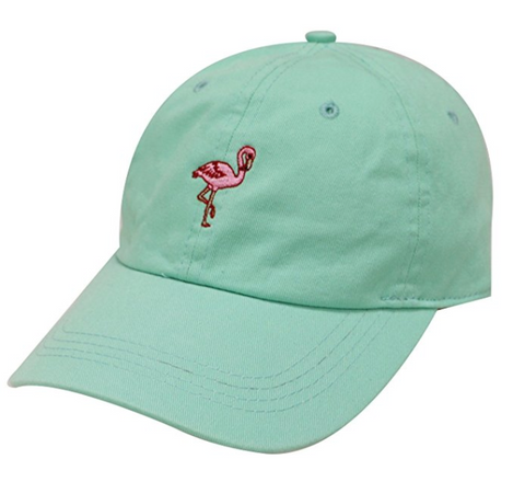 Flamingo Embroidery Dad Hat