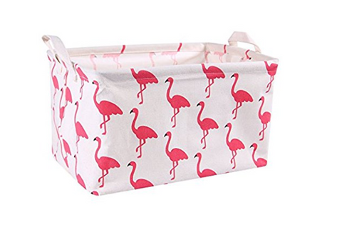 Flamingo Toy Canvas Storage Bins