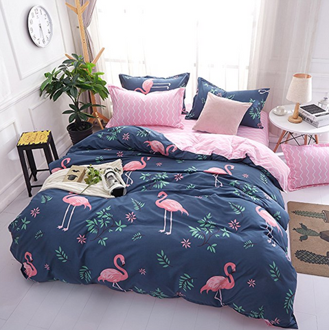 Flamingo Duvet Cover Queen Size